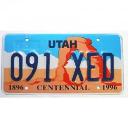 Plaque d Immatriculation USA - Utah ( 170 )