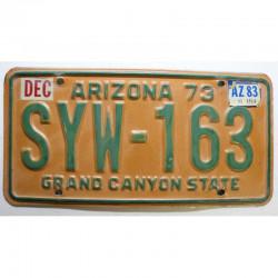 Plaque d Immatriculation USA - Arizona - 1983 ( 355 )
