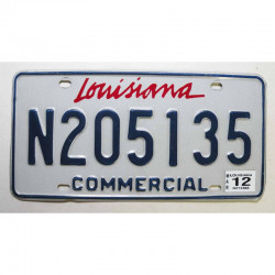 Plaque d Immatriculation USA - Louisiana - 2012 ( 1091 )