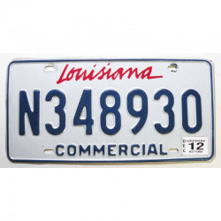 Plaque d Immatriculation USA - Louisiana - 2012 ( 786 )