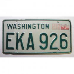 Plaque d Immatriculation USA - Washington avec vignette 1981 ( 1304 )
