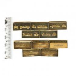 5 Lingots d argent plaqué or: les voitures  performantes ( 5 )