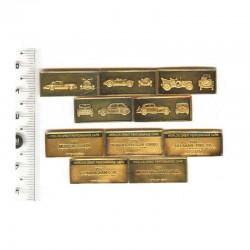 5 Lingots d argent plaqué or: les voitures  performantes ( 6 )