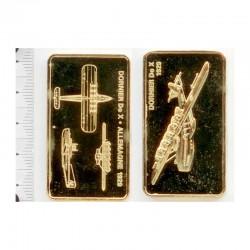 Lingot de Bronze plaqué or 24 carats ( 3 )