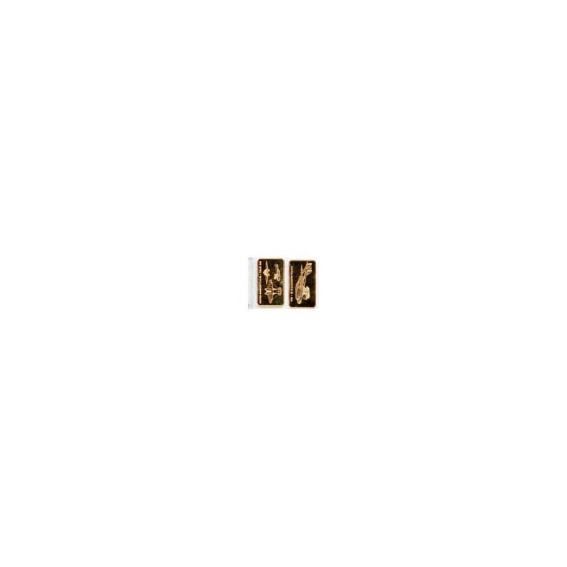 Lingot de Bronze plaqué or 24 carats ( 4 )