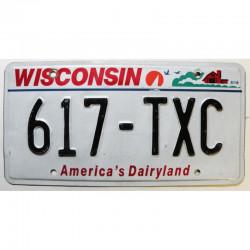 Plaque d'Immatriculation USA - Wisconsin ( 535 )