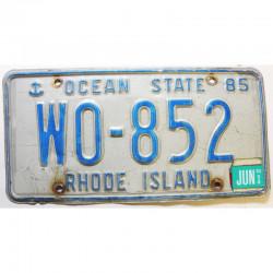 Plaque d Immatriculation USA - Rhode Island 1998 ( 359 )