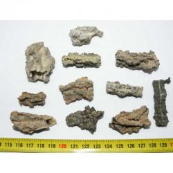 lot de 10 Fulgurites ( meteorite - Tectite - 015 )