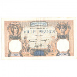 1000 Francs Ceres et Mercure 03/11/1938 SUP ( 216 )