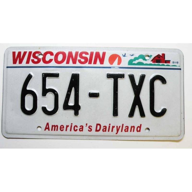 Plaque d Immatriculation USA - Wisconsin ( 537 )