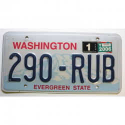Plaque d Immatriculation USA - Washington - 2006 ( 792 )