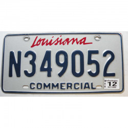 Plaque d Immatriculation USA - Louisiana 2012 ( 271 )