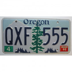 Plaque d Immatriculation USA - Oregon ( 859 )