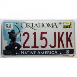 Plaque d Immatriculation USA - Oklahoma 2015 ( 922 )