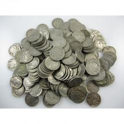 lot de 5 pieces de 5 cents Nickel - USA Buffalo Indian Head 1937 ( 008 )