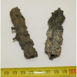 lot de 2 Fulgurites ( meteorite - Tectite - 036  )