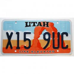 Plaque d Immatriculation USA - Utah ( 1193 )