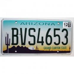 Plaque d Immatriculation USA - Arizona - 2012 ( 352 )