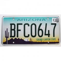 Plaque d Immatriculation USA - Arizona - 2012 ( 1336 )