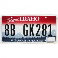 Plaque d Immatriculation USA - Idaho ( 422 )