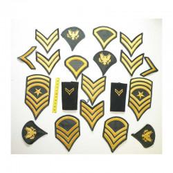 lot de 20 Patchs originaux US Army pour Hommes ( 52 )