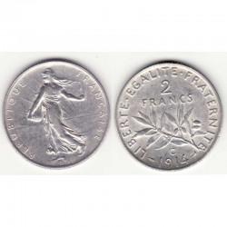 2 franc semeuse 1914 C argent ( 002 )