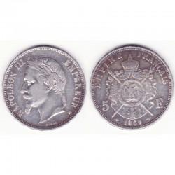 5 francs Napoleon III 1869 BB argent ( 016 )
