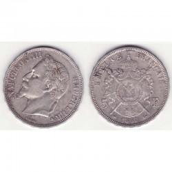 5 francs Napoleon III 1867 A argent ( 012 )