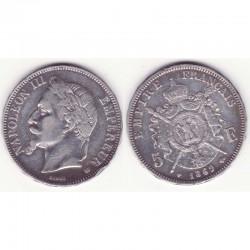 5 francs Napoleon III 1869 BB argent ( 015 )