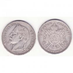 5 francs Napoleon III 1870 A argent ( 014 )