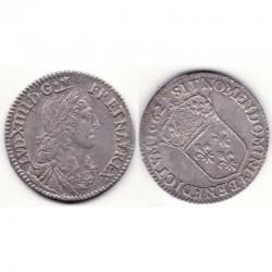 1/12 ecu buste Juvenile Louis XIV 1662 A Argent