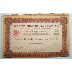 Action Anciene : Ste Miniere du Vivarais ( 648 )