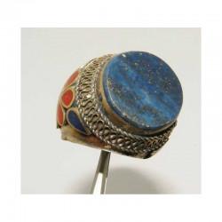 Bague ancienne du Pakistan ciselée taille 59 ( 034 )