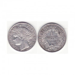 1 piece de 1 francs Ceres Argent 1888 A ( 001 )