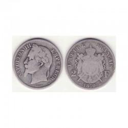 2 francs Napoleon III 1870 A argent ( 001 )