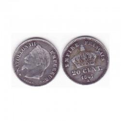 20 cents Napoleon III 1867 A argent ( 005 )
