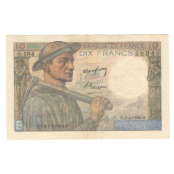 10 Francs Mineur 07/04/1949...