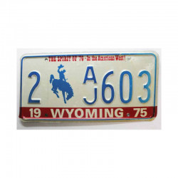 Plaque d Immatriculation USA - Wyoming ( 314 )