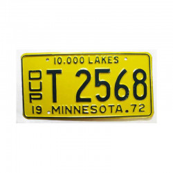 Plaque d Immatriculation USA - Minnesota ( 198 )