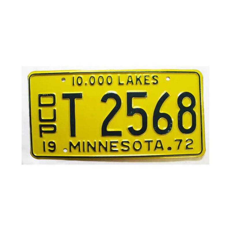 Plaque d Immatriculation USA - Minnesota ( 198 )