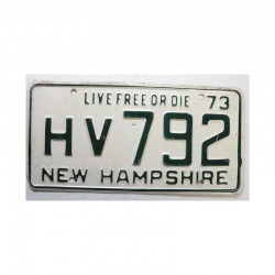 Plaque d Immatriculation USA - New Hampshire ( 183 )