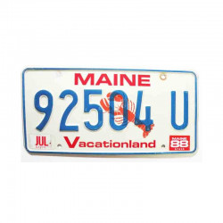 Plaque d Immatriculation USA - Maine ( 233 )
