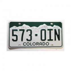 Plaque d Immatriculation USA - Colorado ( 239 )