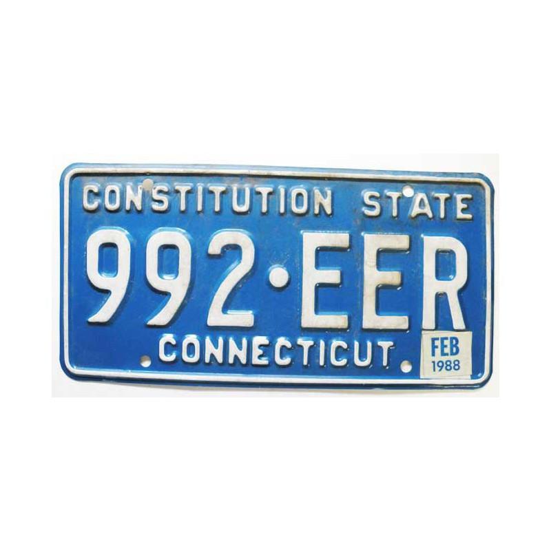 Plaque d Immatriculation USA - Connecticut ( 240 )