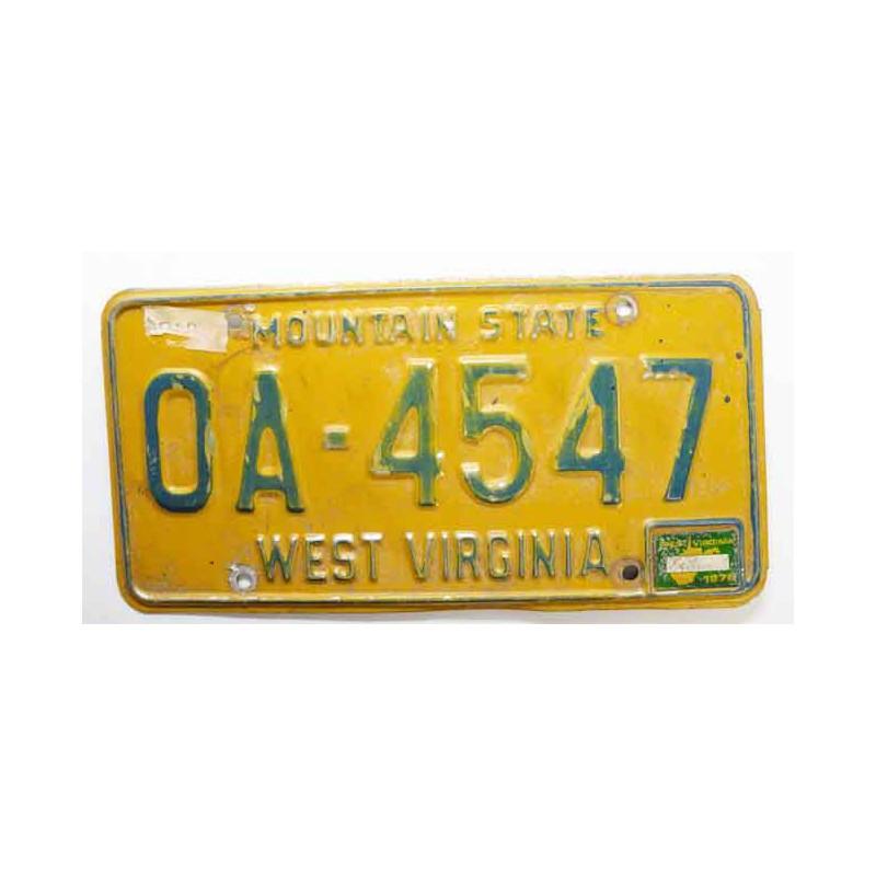 Plaque d Immatriculation USA - West Virginia ( 248 )