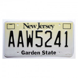 Plaque d Immatriculation USA - New Jersey ( 263 )