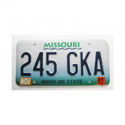 Plaque d Immatriculation USA - Missouri ( 267 )