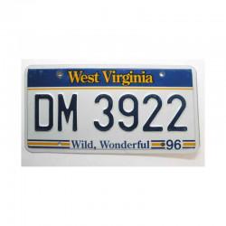 Plaque d Immatriculation USA - West Virginia ( 276 )