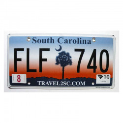 Plaque d Immatriculation USA - South Carolina ( 275 )