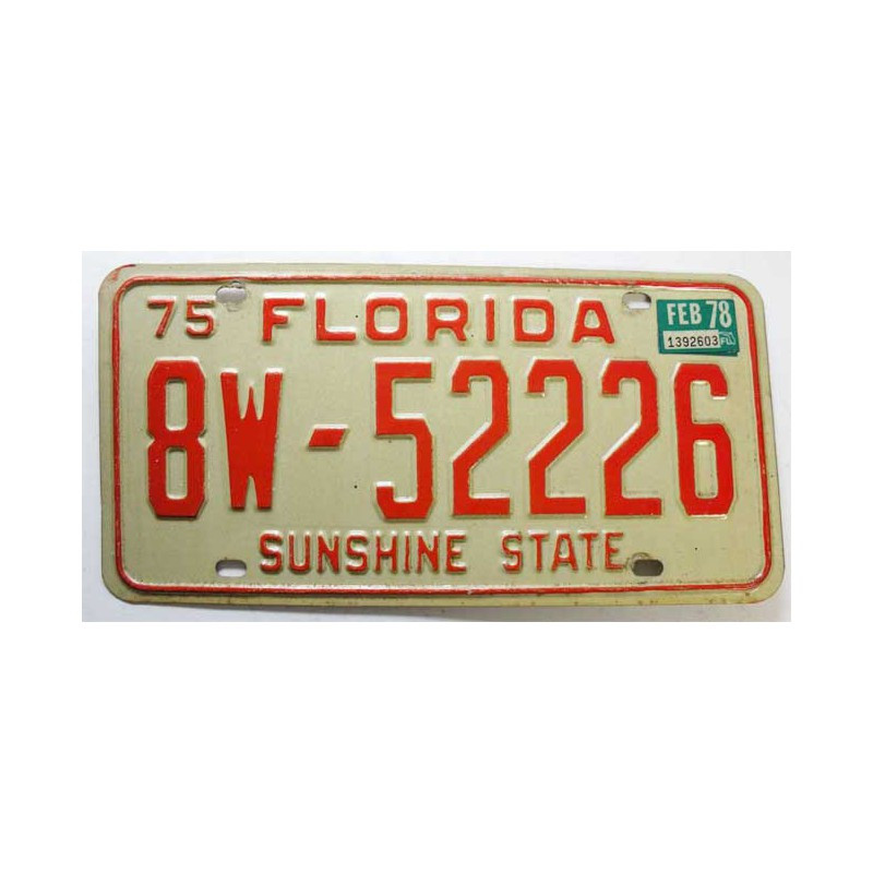 Plaque d Immatriculation USA - Florida ( 318 )
